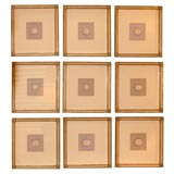 A  Collection of Nine Framed Neo-Classical Intaglio Seals