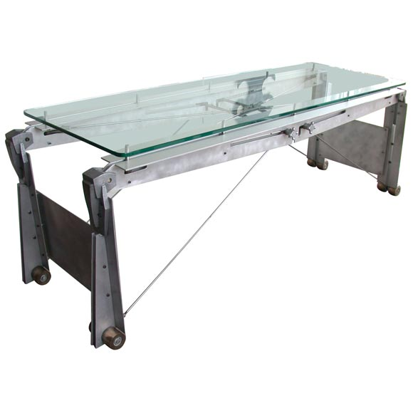 industrial design steel coffee table at 1stdibs