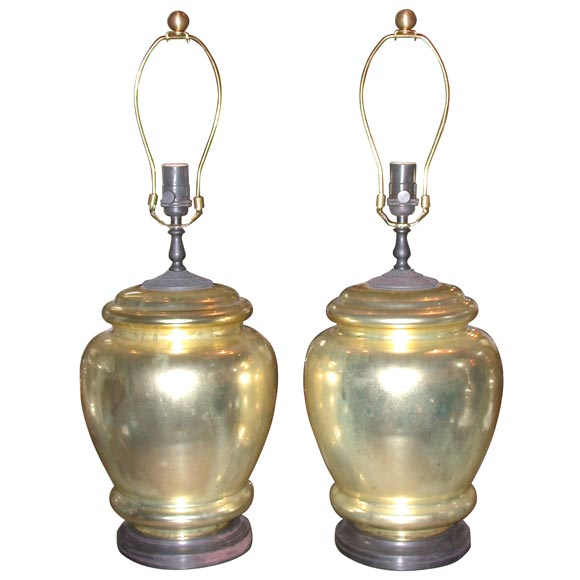 this pair of gold mercury glass bell jar lamps is no longer available. Black Bedroom Furniture Sets. Home Design Ideas