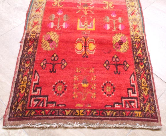Antique Khotan Runner In Excellent Condition For Sale In Chicago, IL
