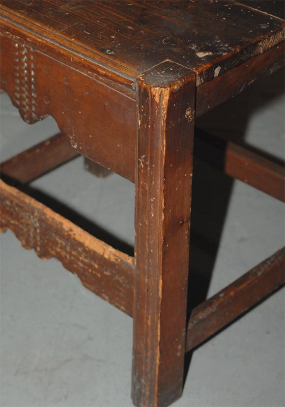 Mexican Set of Four Carved Dining Side Chairs, Spanish Colonial, Early 19th Century For Sale