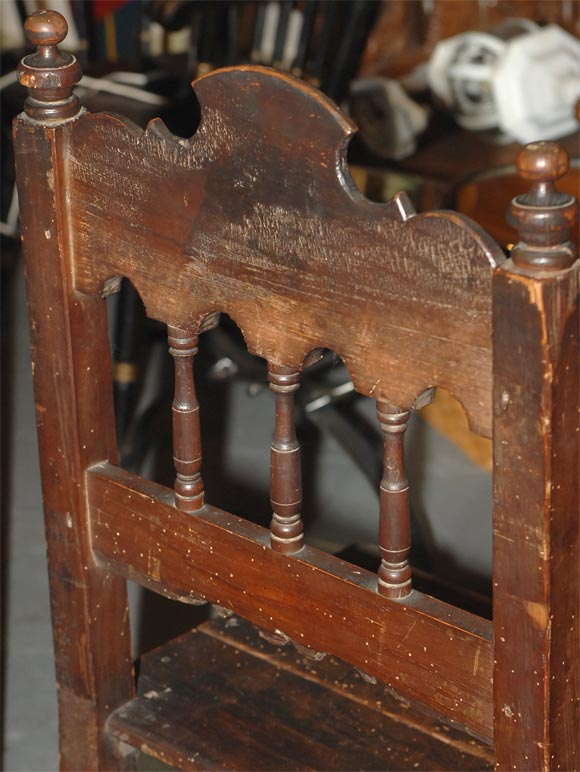 Set of Four Carved Dining Side Chairs, Spanish Colonial, Early 19th Century For Sale 2