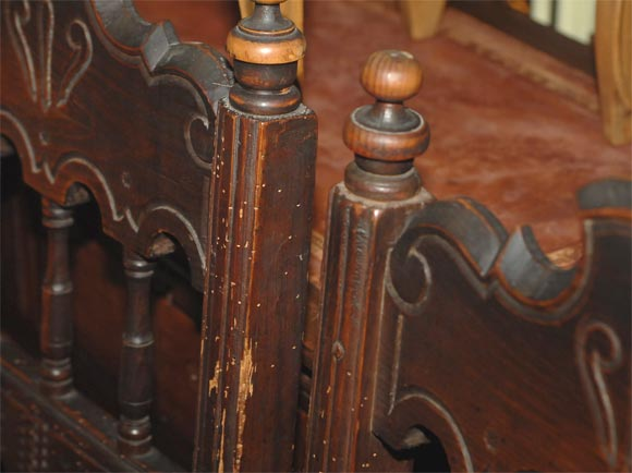 Set of Four Carved Dining Side Chairs, Spanish Colonial, Early 19th Century For Sale 3