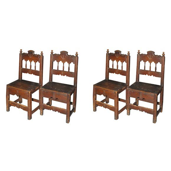Set of Four Dining Chairs Spanish