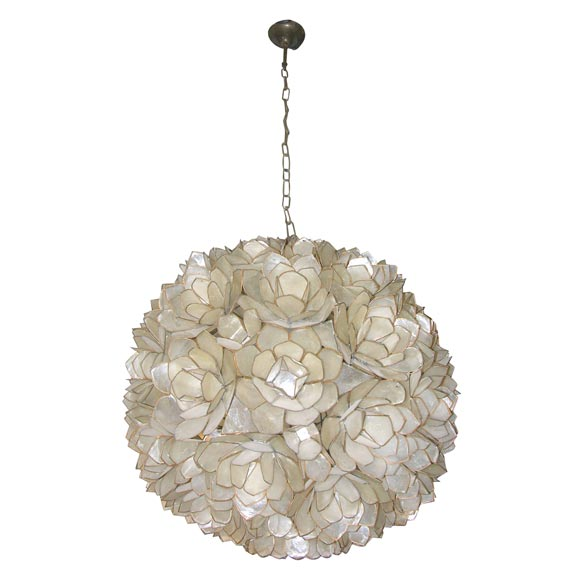Mother Of Pearl Chandelier At 1stdibs