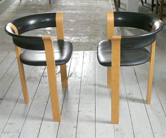 Pair of Chairs by Rud Thygesen and Johnny Sorensen 3