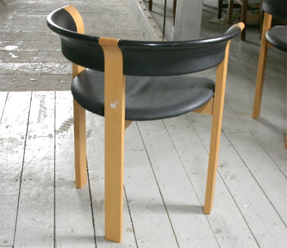 Pair of Chairs by Rud Thygesen and Johnny Sorensen In Good Condition For Sale In Hudson, NY