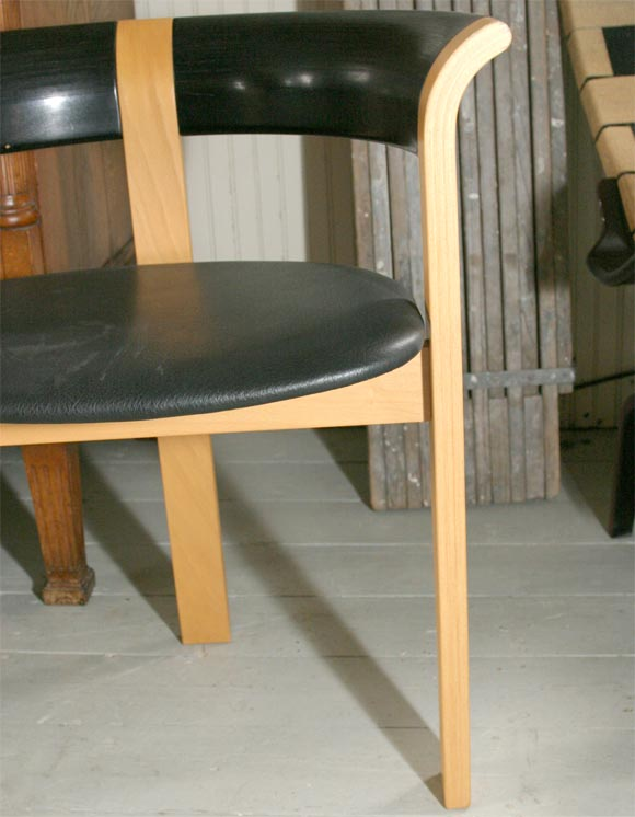 Pair of Chairs by Rud Thygesen and Johnny Sorensen For Sale 1