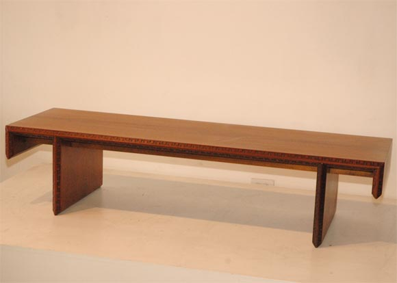 Frank Lloyd Wright Coffee Table Bench At 1stdibs