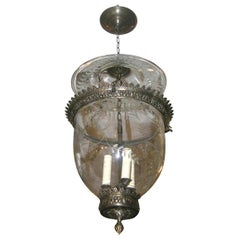 Set of Eight Italian Etched Bronze Lanterns. Sold individually.
