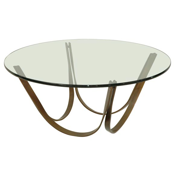 A Patinated Bronze And Glass Cocktail Table At 1stdibs