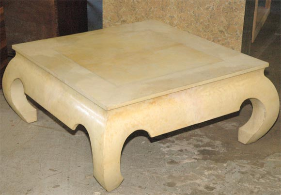 Chinese Style Parchment Coffee Table At 1stdibs