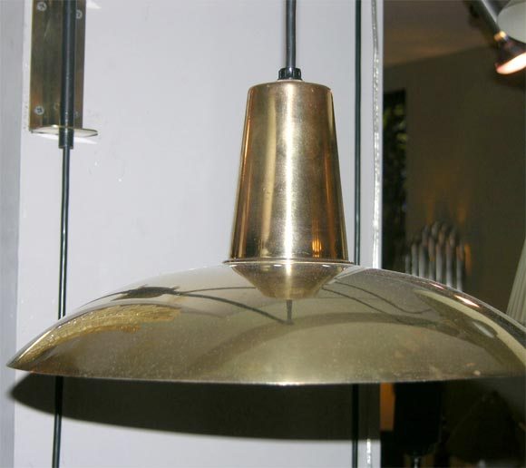 A Pair Of Modernist Brass Wall Sconces By Kurt Versen At