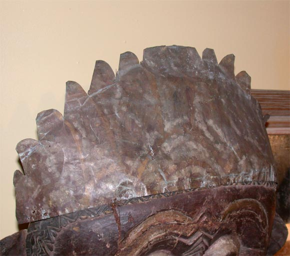 Javanese Carved Mask  on Steel Stand image 4