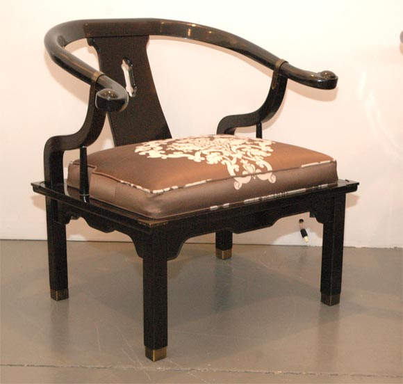 James Mont Style Lacquered Asian Chairs 2