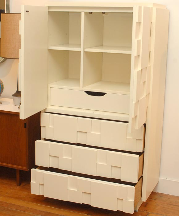 Puzzle design tall chest at 1stdibs - Frank boca do lobo chest of drawers style and functionality ...