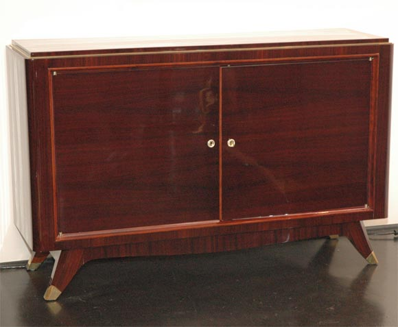 Rosewood and Brass Sideboard by Atelier Gauthier Poinsignon 2