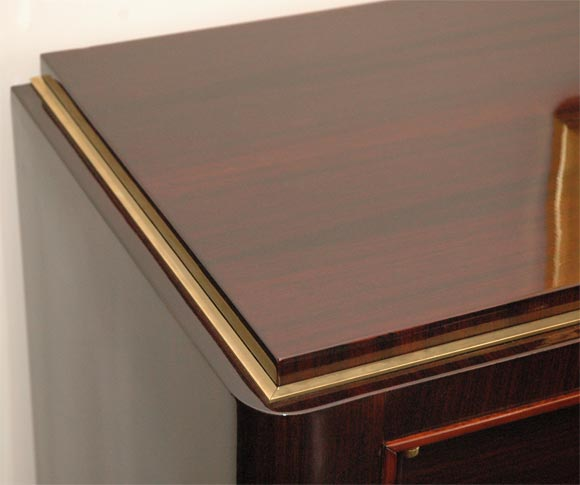 Rosewood and Brass Sideboard by Atelier Gauthier Poinsignon 4