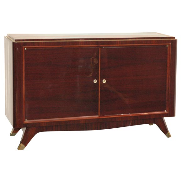 Rosewood and Brass Sideboard by Atelier Gauthier Poinsignon 1