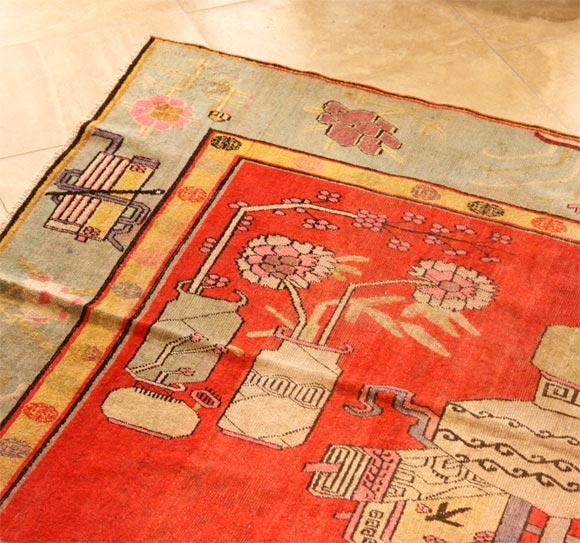 20th Century Antique Khotan Carpet For Sale