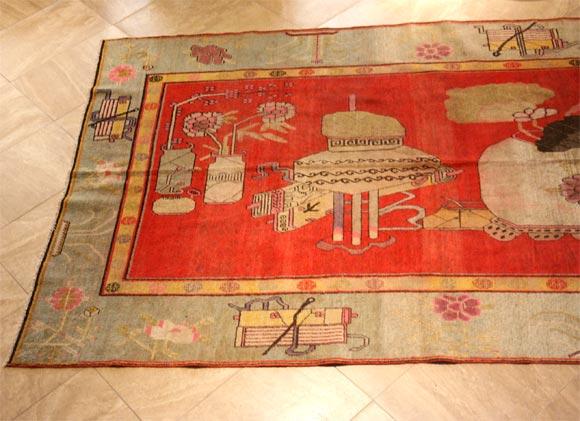 Wool Antique Khotan Carpet For Sale