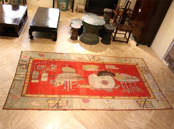Antique Khotan Carpet For Sale 2