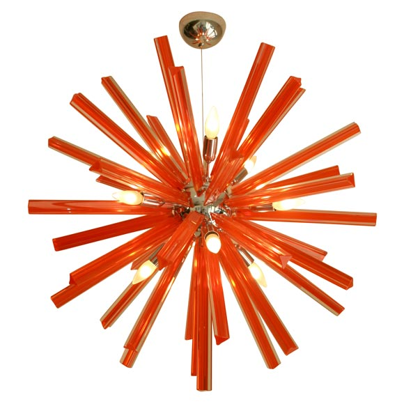 Murano glass rare orange sputnik at 1stdibs mozeypictures Images