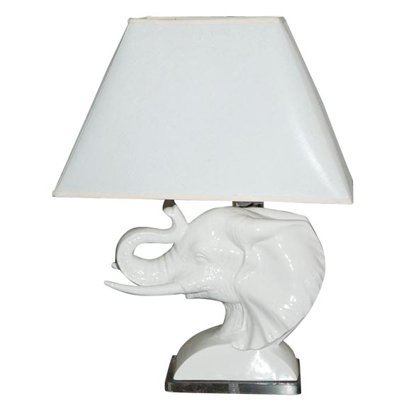 Elephant table lamp at 1stdibs for Table lamp elephant base