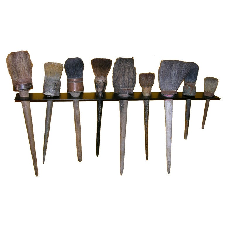 Set of Early Paintbrushes at 1stdibs