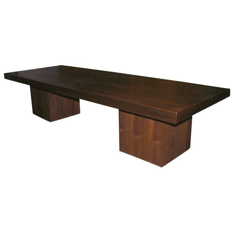 Milo Baughman Extendable Walnut 1950 39 S Coffee Table At 1stdibs