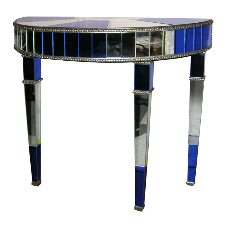 Art Deco Style Mirrored Console Table