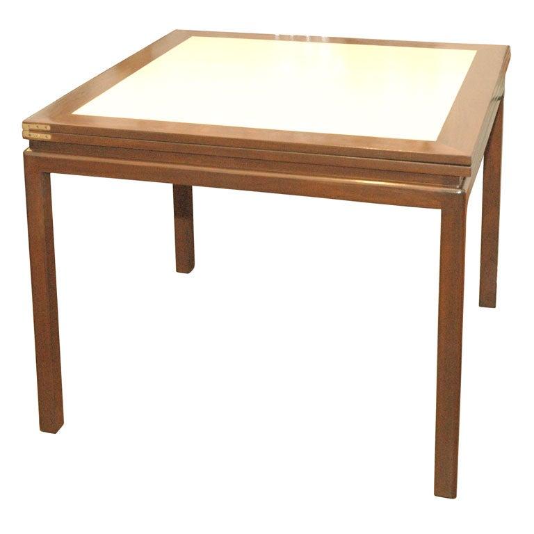 Dunbar For Edward Wormley Cork Flip Top Game Dining Table