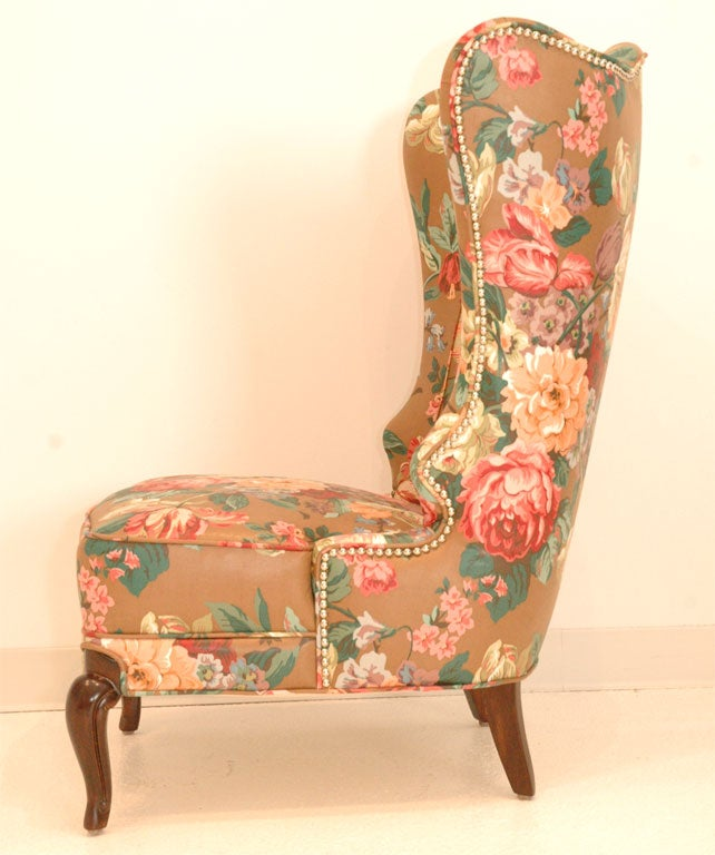 A Pair Of Wingback Chairs Inspired By Dorothy Draper At
