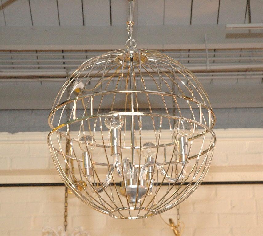 paul marra design metal sphere chandelier 2 - Sphere Chandelier
