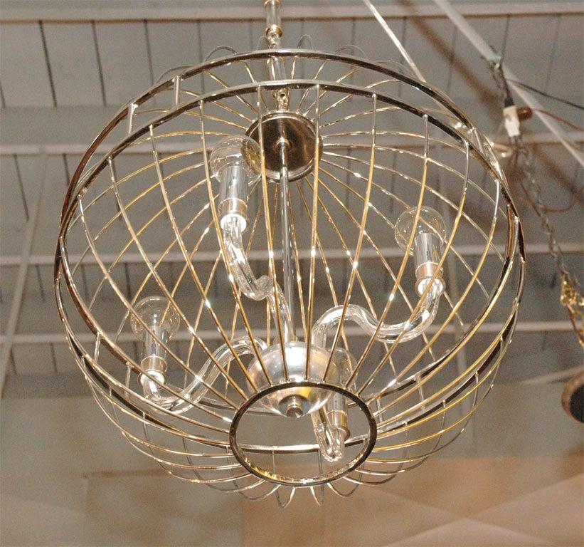 Paul marra design metal sphere chandelier at 1stdibs modern paul marra design metal sphere chandelier for sale aloadofball Choice Image