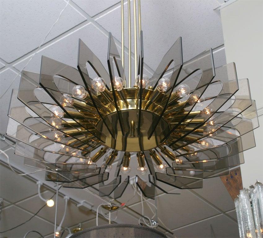 stunning fontana arte large 24 light chandelier at 1stdibs. Black Bedroom Furniture Sets. Home Design Ideas