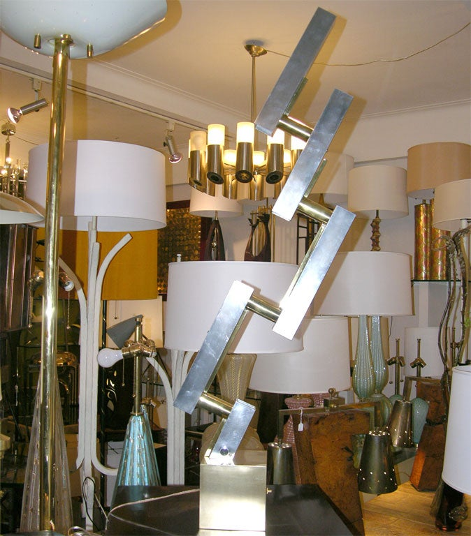 A pair of Mid Century Modern sculptural table lamps Italy 1960's New sockets and rewired