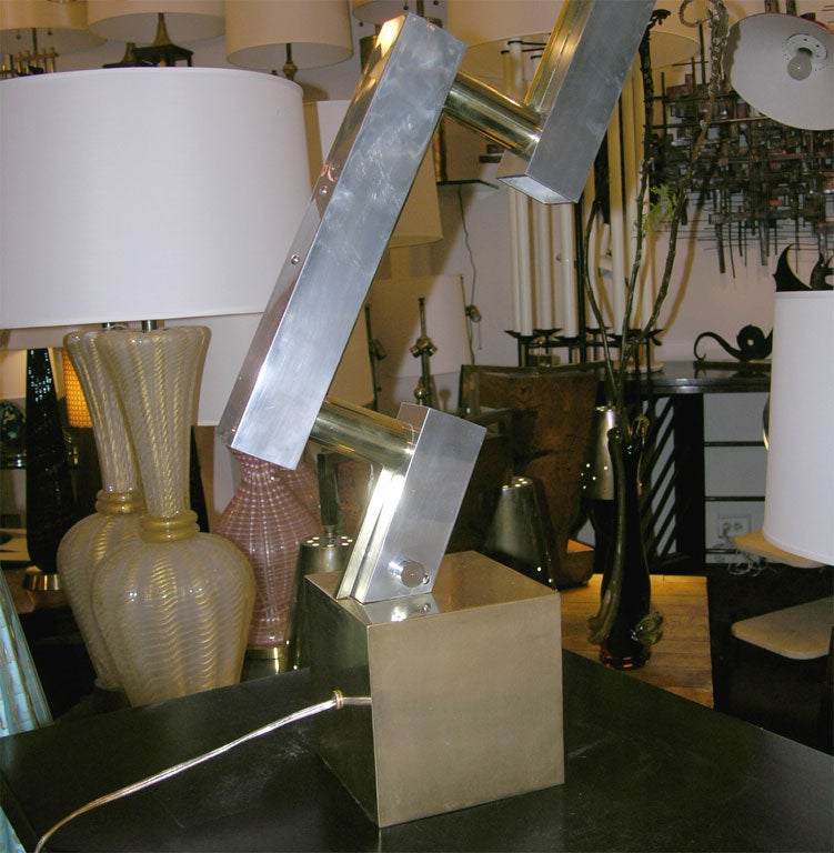 Mid-Century Modern  Table Lamps Pair of Mid Century Modern Architectural I6taly 1960's For Sale
