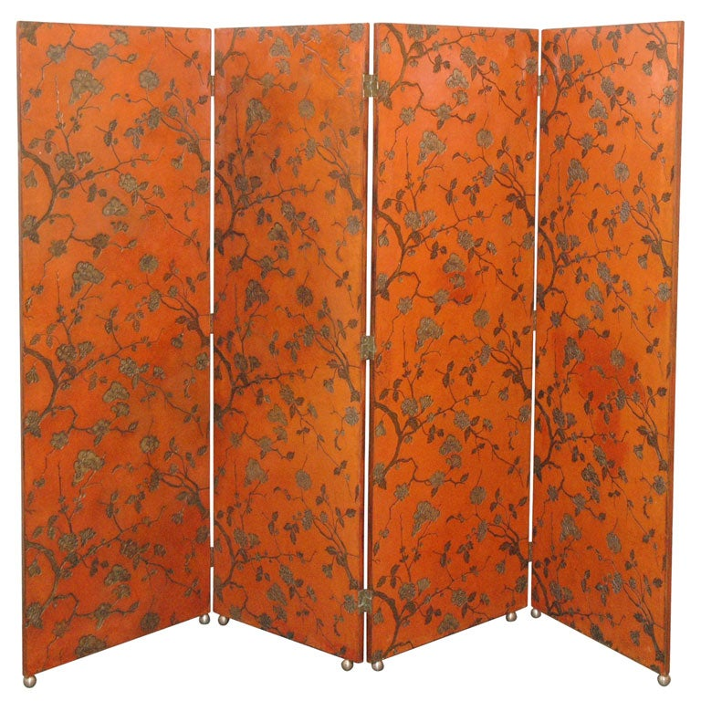 1940's Chinese Lacquer Floorscreen