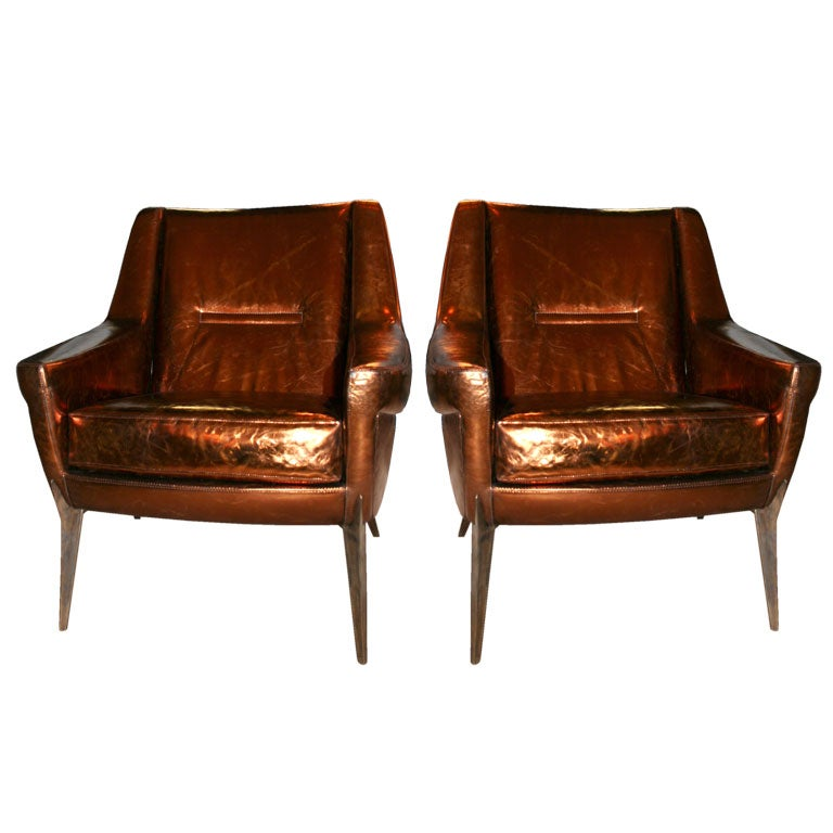 Ramos Copper Armchairs At 1stdibs