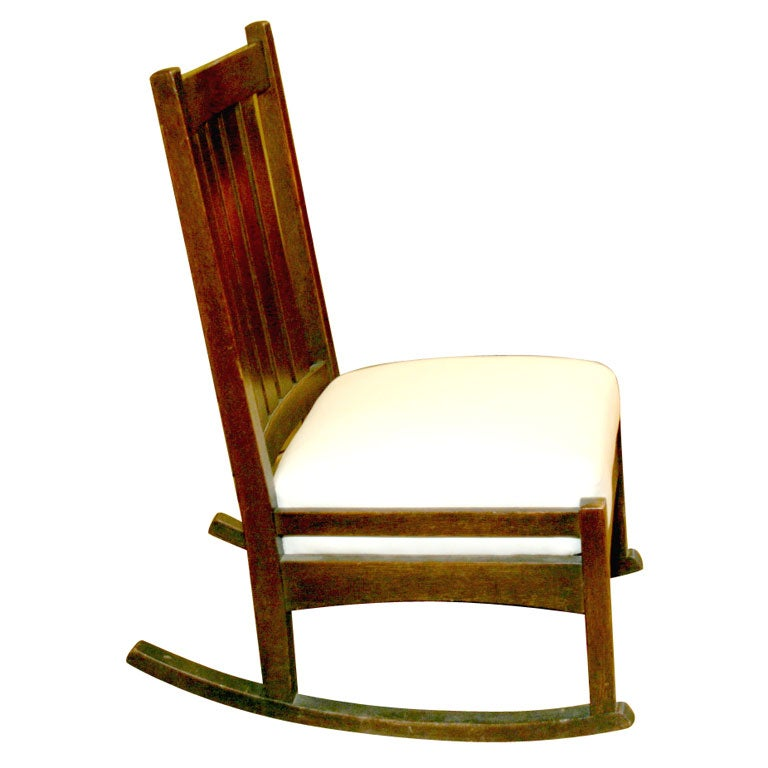 Gustave Stickley Armless Rocker At 1stdibs