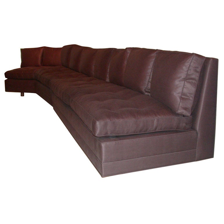 Two piece armless sectional sofa at 1stdibs for Sofa jugendstil