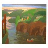 Coastal Scene by Edward Avidisian
