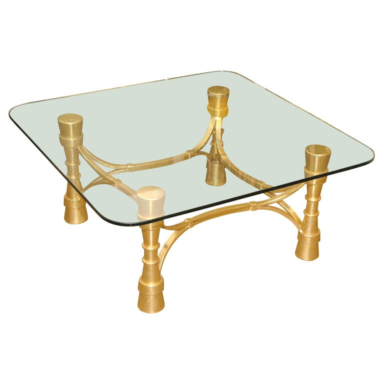 French Iron Cocktail Table With Gilt At 1stdibs