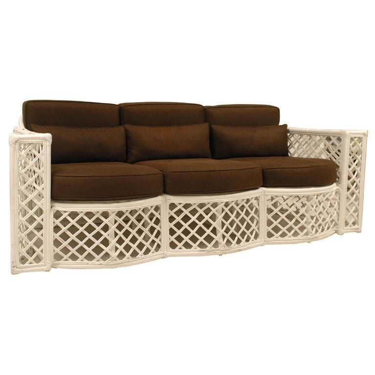 vintage rattan sofa at 1stdibs. Black Bedroom Furniture Sets. Home Design Ideas
