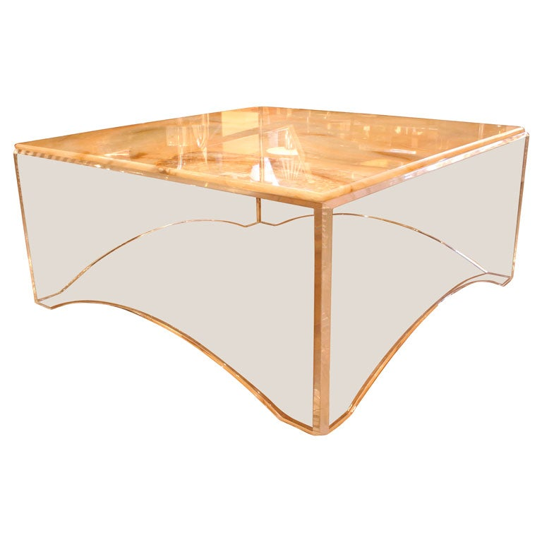 Vladimir Kagan Lucite Coffee Table At 1stdibs