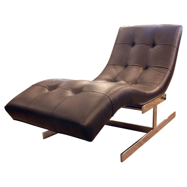 1970 39 s chaise lounge at 1stdibs for Art nouveau chaise lounge