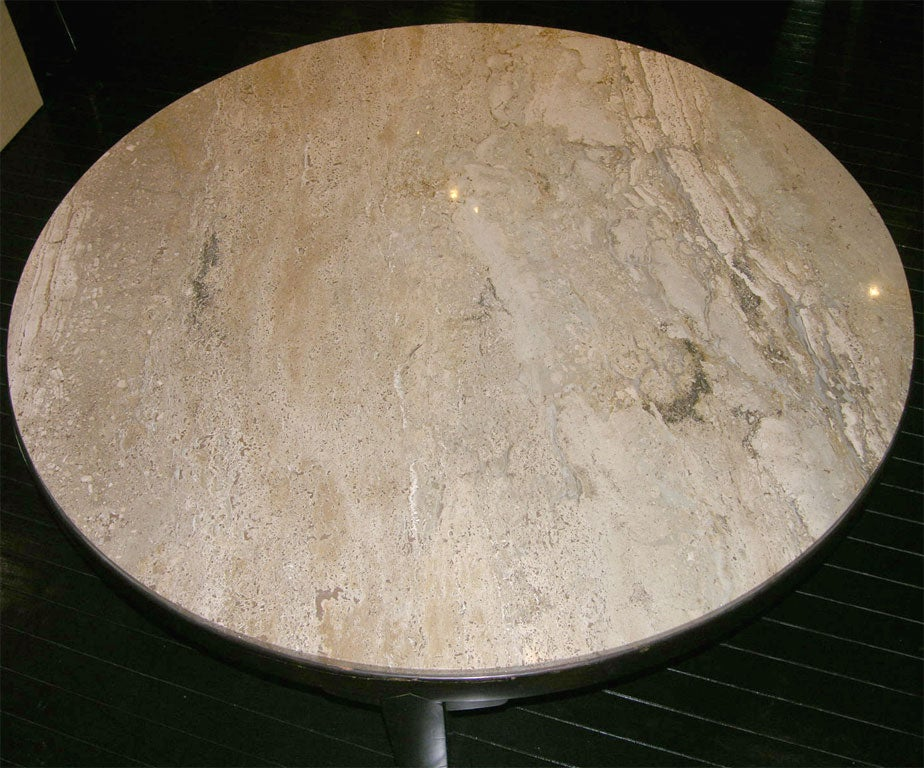 Mid-20th Century Coffee Table with Portuguese Marble Top by Edward Wormley For Sale