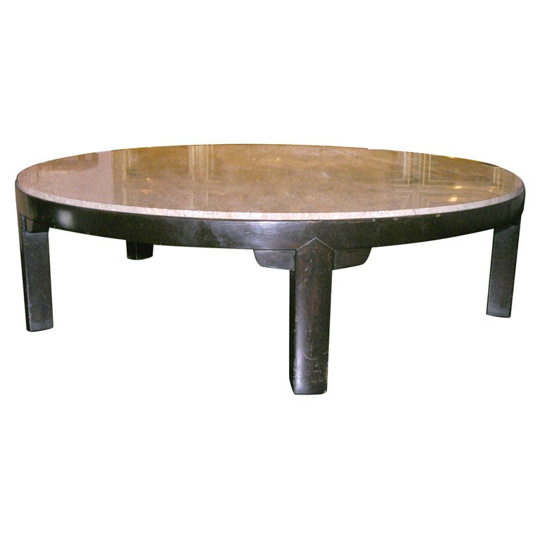 New York Marble Coffee Table: Coffee Table With Portuguese Marble Top By Edward Wormley