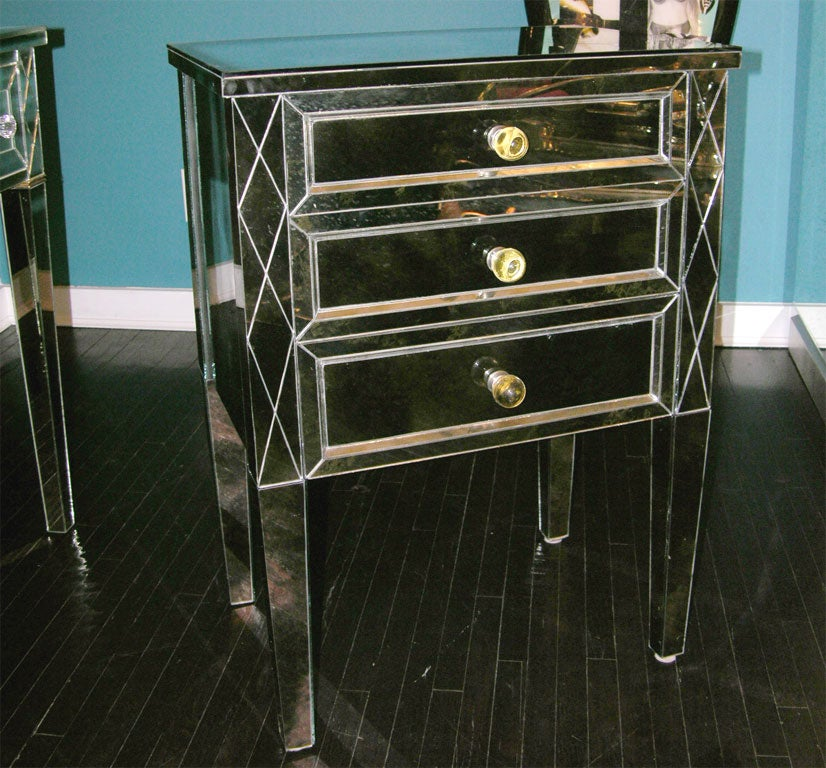 Single Smoked Mirrored Commode For Sale At 1stdibs